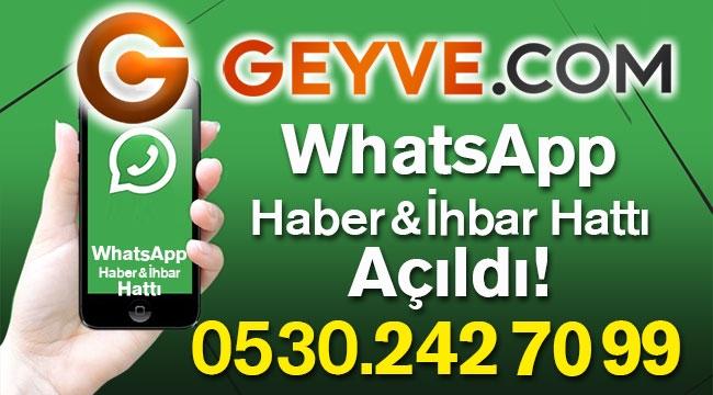 Geyve.com WhatsApp Hattı Açıldı
