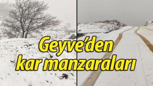 Geyve'den kar manzaraları