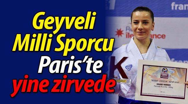 Geyveli Milli Sporcu Serap Özçelik Arapoğlu yine zirvede