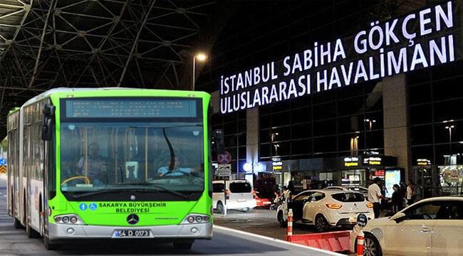 Sakarya'dan Sabiha Gökçen'e otobüs seferleri