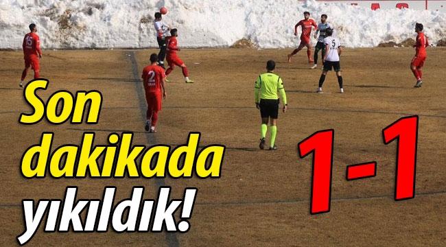 Sakaryaspor son dakikada yıkıldı: 1-1