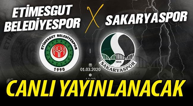 Sakaryaspor'un maçı canlı yayınlanacak!