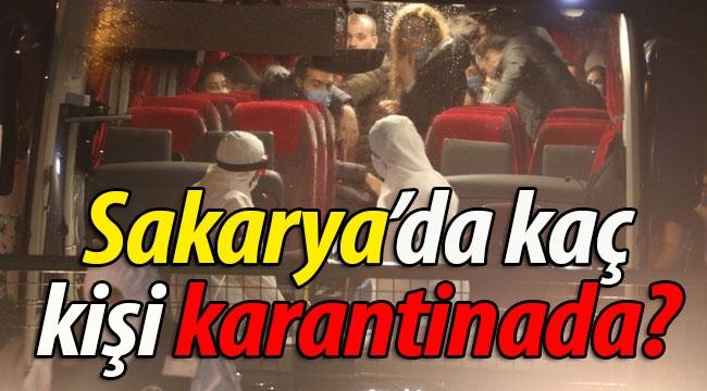 Sakarya'da kaç kişi karantinada?