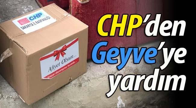 CHP'den Geyve'ye yardım kolisi