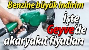 Geyve'de benzin fiyatı