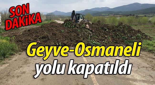 SON DAKİKA! Geyve-Osmaneli yolu kapatıldı