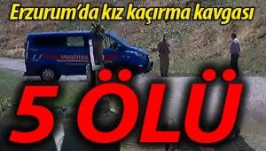 Erzurum'da silahlı kız kaçırma kavgası: 5 ölü, 4 yaralı