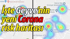 Geyve'nin Corona risk haritası güncellendi!