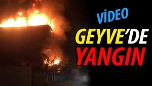 Son dakika Geyve'de yangın!