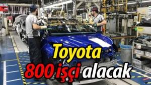 Toyota 800 işçi alacak!