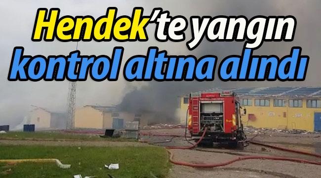 Hendek'te yangın kontrol altına alındı
