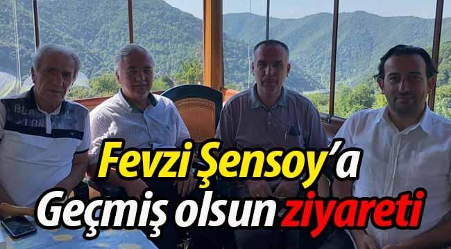 """Fevzi Şensoy'a """"Geçmiş olsun"""" ziyareti"""