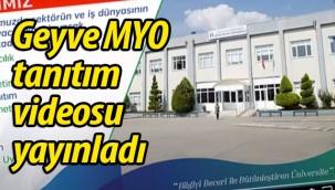 Geyve Meslek Yüksek Okulu tanıtım videosu yayınladı