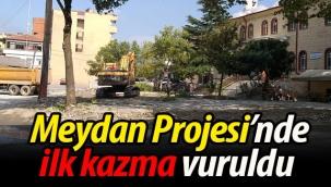 Geyve Meydan Projesi'nde ilk kazma vuruldu
