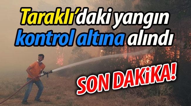 Taraklı'daki orman yangını kontrol altına alındı