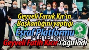 Eşraf Platformu, Geyveli Fatih Kıcır'ı konuk etti