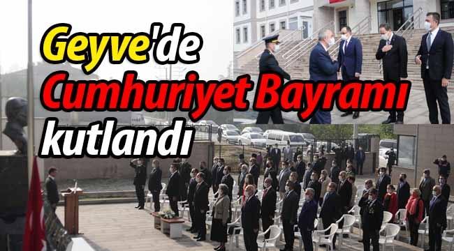 Geyve'de Cumhuriyet Bayramı Kutlandı