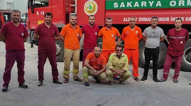 Geyve'den Hatay'daki orman yangınına destek