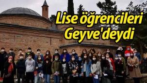 Liseli öğrenciler Geyve'deydi