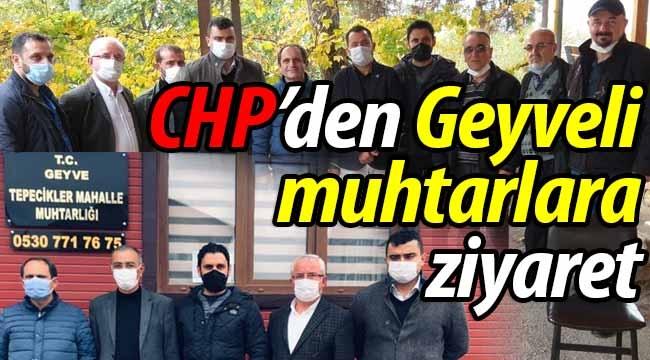 CHP'den Geyveli muhtarlara ziyaret!