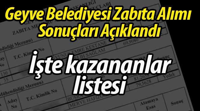Geyve Belediyesi Zabıta Alımı Sonuçlandı