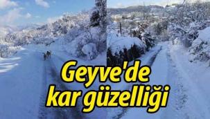 Geyve'de kar güzelliği