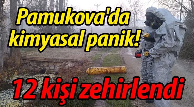 Pamukova'da kimyasal panik! 12 kişi zehirlendi