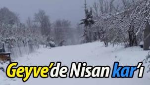 Geyve'de Nisan kar'ı