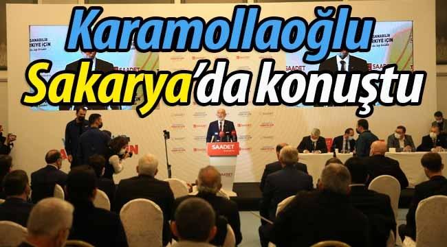 Karamollaoğlu Sakarya kongresinde konuştu