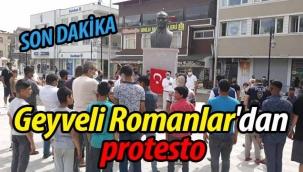 Geyveli Romanlar'dan protesto