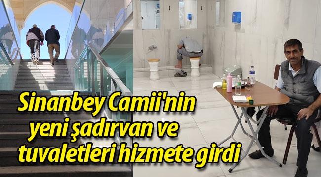 Geyve Sinanbey Camii'nin yeni şadırvan ve tuvaletleri hizmete girdi