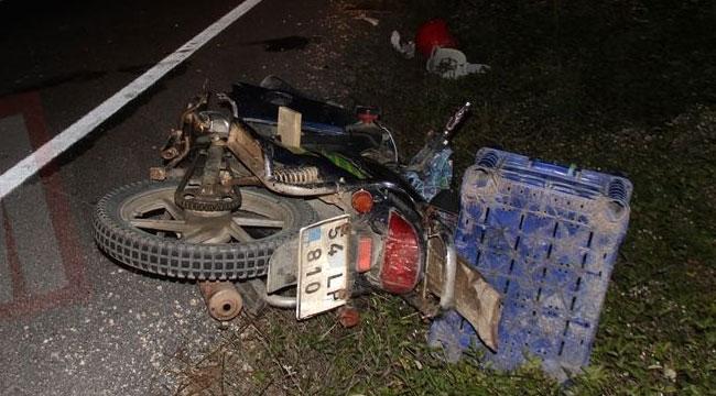 Geyve-Taraklı yolunda motosiklet kazası: 1 ağır yaralı