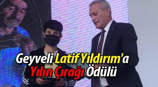 Geyveli Latif Yıldırım'a Yılın Çırağı Ödülü
