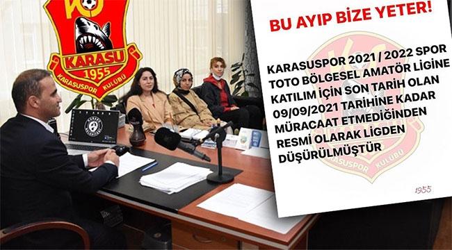 Lig başlamadan Karasuspor küme düştü!