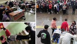 Geyve Anadolu Lisesi'nde deprem tatbikatı