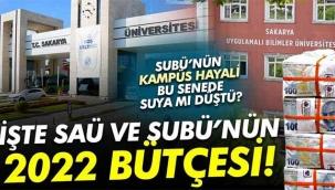 İşte SAÜ ve SUBÜ'ye 2022 yılı için verilecek bütçe ödeneği!