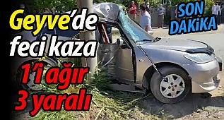 Geyve'de feci kaza: 1'i ağır, 3 YARALI